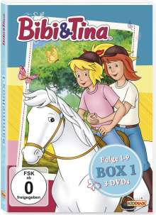 Bibi & Tina Box 1 (Folge 1-9), 3 DVDs