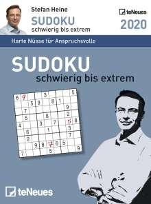 Stefan Heine: Sudoku schwierig bis extrem 2020 Tagesabreißkalender, Diverse