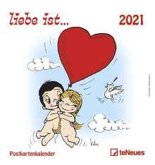 Kim Casali: liebe ist... 2021. Postkartenkalender, Kalender