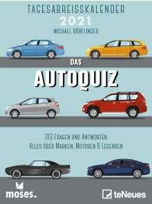 Michael Dörflinger: moses Autoquiz 2021 Tagesabreißkalender, Kalender