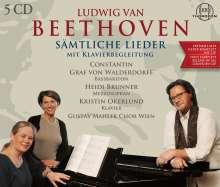 Ludwig van Beethoven (1770-1827): Sämtliche Lieder mit Klavierbegleitung, 5 CDs