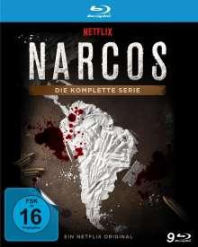 Narcos (Komplette Serie) (Blu-ray), 9 Blu-ray Discs