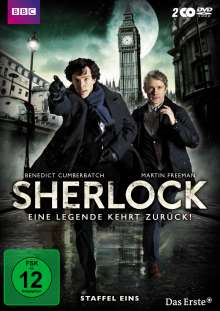 Sherlock Staffel 1, 2 DVDs