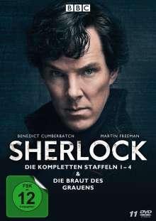 Sherlock Staffel 1-4 & Die Braut des Grauens, 11 DVDs