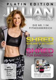 Jillian Michaels Platin Edition: Shred / Shred für Einsteiger, 2 DVDs
