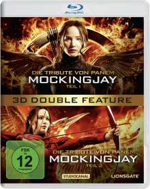 Die Tribute von Panem - Mockingjay Teil 1 & 2 (3D Blu-ray), 2 Blu-ray Discs
