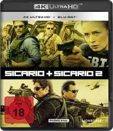 Sicario 1 & 2 (Ultra HD Blu-ray & Blu-ray), 2 Ultra HD Blu-rays und 2 Blu-ray Discs