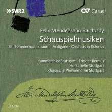 Felix Mendelssohn Bartholdy (1809-1847): Die Schauspielmusiken, 3 CDs