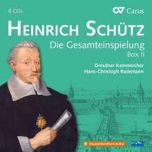 Heinrich Schütz (1585-1672): Heinrich Schütz - Die Gesamteinspielung Box 2 (Carus Schütz-Edition), 8 CDs