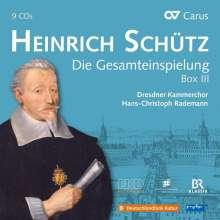 Heinrich Schütz (1585-1672): Heinrich Schütz - Die Gesamteinspielung Box 3 (Carus Schütz-Edition), 9 CDs