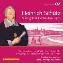 Heinrich Schütz (1585-1672): MadrigaIe & Hochzeitsmusiken (Carus Schütz-Edition Vol.19), CD