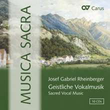 Josef Rheinberger (1839-1901): Musica Sacra - Geistliche Vokalmusik, 10 CDs