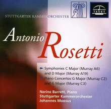 Antonio Rosetti (1750-1792): Klavierkonzerte Murray C2 & 3 (Kaul III Nr.1 & 2), CD