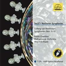 Ludwig van Beethoven (1770-1827): Symphonien Nr.3 & 4 (180g), 2 LPs