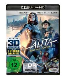 Alita: Battle Angel (Ultra HD Blu-ray & 3D & 2D Blu-ray), 1 Ultra HD Blu-ray und 2 Blu-ray Discs