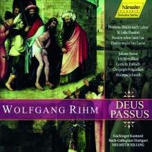 Wolfgang Rihm (geb. 1952): Deus Passus (Passionsstücke nach Lukas), 2 CDs