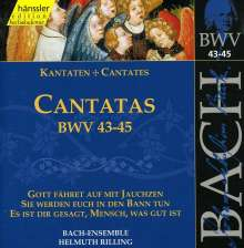 Johann Sebastian Bach (1685-1750): Die vollständige Bach-Edition Vol.15 (Kantaten BWV 43-45), CD