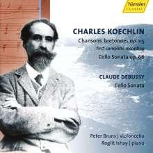 Charles Koechlin (1867-1950): Chansons bretonnes op.115 für Cello & Klavier, CD
