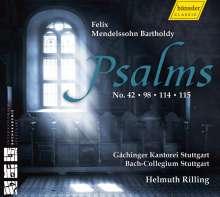 Felix Mendelssohn Bartholdy (1809-1847): Psalmen opp.31,42,51,91, CD