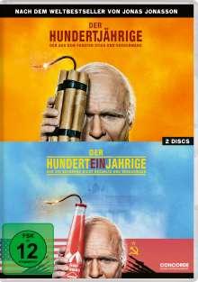Der Hundertjährige, der aus dem Fenster stieg und verschwand / Der Hunderteinjährige, der die Rechnung nicht bezahlte und verschwand, 2 DVDs