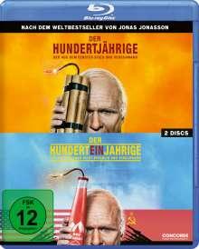 Der Hundertjährige, der aus dem Fenster stieg und verschwand / Der Hunderteinjährige, der die Rechnung nicht bezahlte und verschwand (Blu-ray), 2 Blu-ray Discs