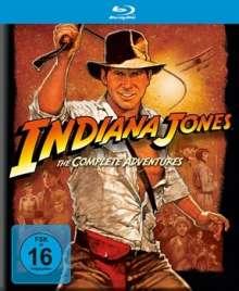Indiana Jones 1-4: Die komplette Tetralogie (Blu-ray), 5 Blu-ray Discs