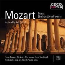 Wolfgang Amadeus Mozart (1756-1791): Opern (Auszüge) - Live aus Aix-en-Provence, 4 CDs