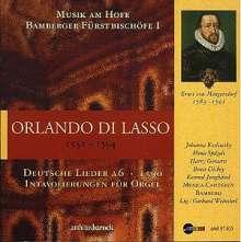 Orlando di Lasso (Lassus) (1532-1594): Deutsche Lieder, CD