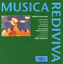 """Erwin Schulhoff (1894-1942): Symphonie für Altstimme & Orchester """"Menschheit"""", CD"""