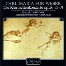 Carl Maria von Weber (1786-1826): Klarinettenkonzerte Nr.1 & 2, CD