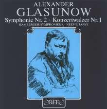Alexander Glasunow (1865-1936): Symphonien Nr.2,4,7 (120 g), 2 LPs
