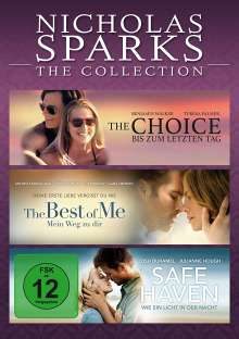 Nicholas Sparks - The Collection, 3 DVDs