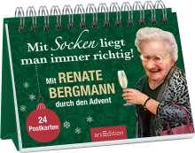 Renate Bergmann: Mit Socken liegt man immer richtig! Mit Renate Bergmann durch den Advent. 24 Postkarten., Buch