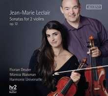 Jean Marie Leclair (1697-1764): Sonaten für 2 Violinen ohne Bc op. 12 Nr. 1-6, CD