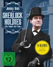 Sherlock Holmes (Alle Folgen, alle Filme) (Blu-ray), 14 Blu-ray Discs