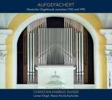 Aufgefächert - Deutsche Orgelmusik zwischen 1750 und 1915, CD