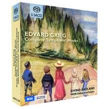 Edvard Grieg (1843-1907): Sämtliche Orchesterwerke, 5 Super Audio CDs