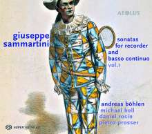 Giuseppe Sammartini (1695-1750): Sonaten für Blockflöte & Bc Vol.1, Super Audio CD