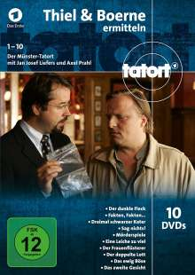 Tatort Münster - Thiel und Boerne ermitteln Fall 1-10, 10 DVDs
