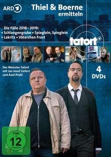 Tatort Münster - Thiel und Boerne ermitteln 2018-2019, 4 DVDs