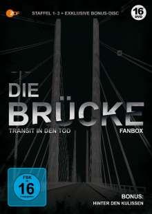 Die Brücke - Transit in den Tod Staffel 1-3, 16 DVDs