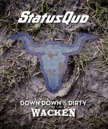 Status Quo: Down Down & Dirty At Wacken, 1 CD und 1 Blu-ray Disc