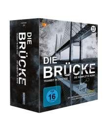 Die Brücke - Transit in den Tod (Komplette Serie) (Blu-ray), 11 Blu-ray Discs und 2 DVDs
