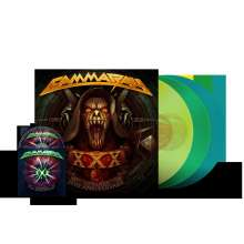 Gamma Ray (Metal): 30 Years: Live Anniversary (180g) (Limited Edition) (Yellow, Green & Turquoise Vinyl), 3 LPs und 1 Blu-ray Disc