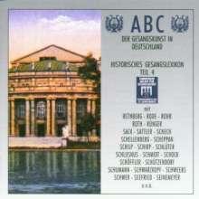 ABC der Gesangskunst in Deutschland - Gesangslexikon 4, 2 CDs