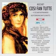 Wolfgang Amadeus Mozart (1756-1791): Cosi Fan Tutte (4 Gesamtaufnahmen im MP3-Format), 2 MP3-CDs