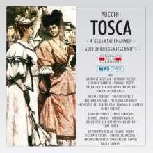Giacomo Puccini (1858-1924): Tosca (4 Gesamtaufnahmen im MP3-Format), 2 MP3-CDs
