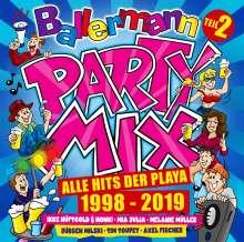 Ballermann Party Mix: Alle Hits der Playa 1998 - 2019 (Teil 2), 3 CDs