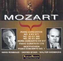 Wolfgang Amadeus Mozart (1756-1791): Klavierkonzerte Nr.9,20,25, 2 CDs