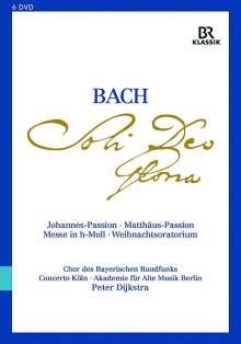 """Johann Sebastian Bach (1685-1750): Die großen geistlichen Werke """"Soli Deo Gloria"""", 6 DVDs"""
